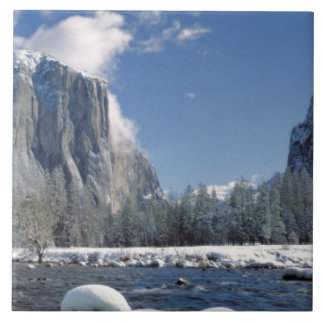 USA, California, Yosemite NP. The Merced River, Ceramic Tile