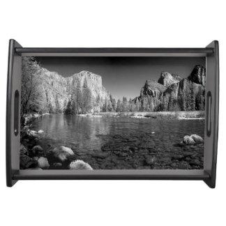 USA, California. Yosemite Valley View Serving Tray