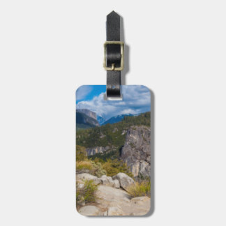 USA, California. Yosemite Valley Vista 2 Luggage Tag