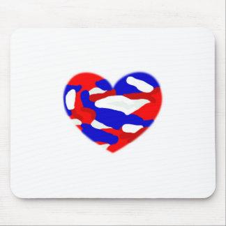 USA Camo Heart Mouse Pads