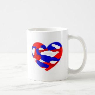 USA Camo Heart Mugs