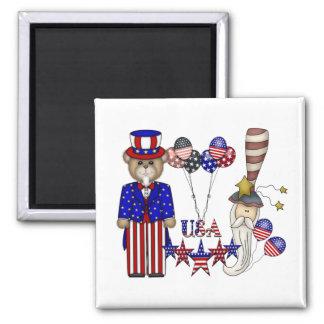 USA Celebration Square Magnet