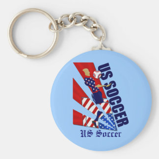 USA Chest control soccer fans soccer art gifts Key Chain