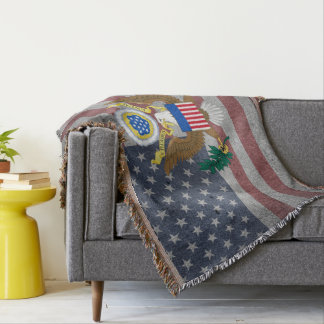 Usa Coat of arms Throw Blanket
