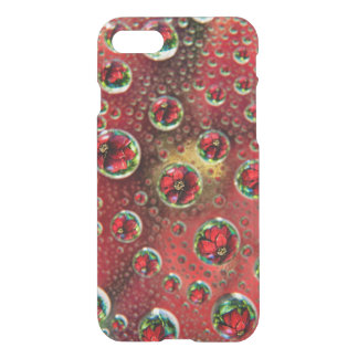 USA, Colorado, Lafayette. Water bubbles on glass 3 iPhone 7 Case