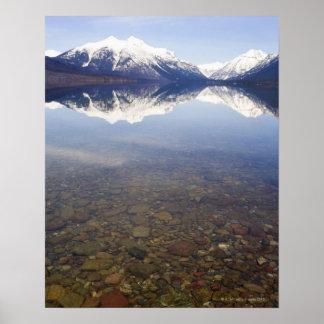 USA, Colorado, Mountains reflected in lake Poster