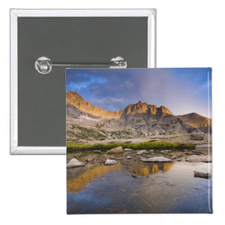 USA, Colorado, Rocky Mountain NP.  Storm clouds 15 Cm Square Badge