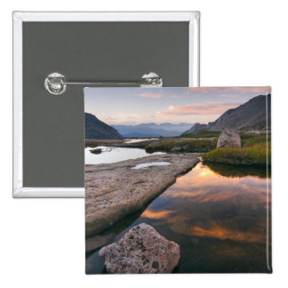 USA, Colorado, Rocky Mountain NP.  Sunrise in 15 Cm Square Badge