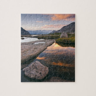 USA, Colorado, Rocky Mountain NP.  Sunrise in Puzzles