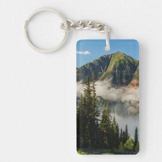USA, Colorado, San Juan Mountains. Clearing Double-Sided Rectangular Acrylic Key Ring