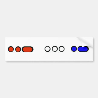 USA Colorful Morse Code Bumper Sticker