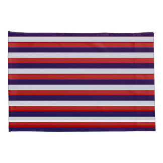 USA Colors Striped Pillowcase