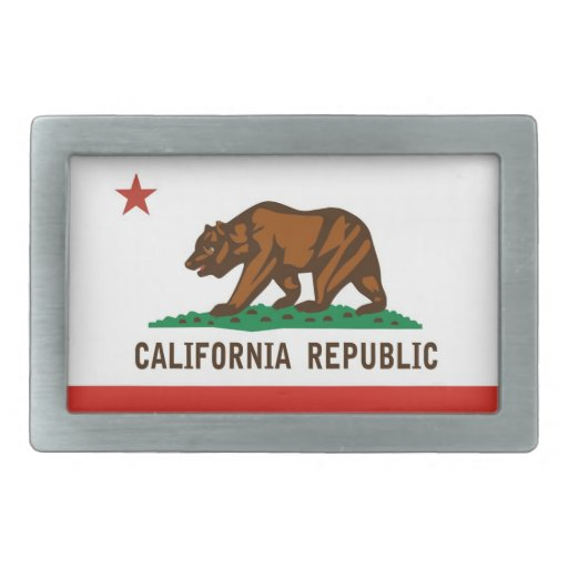 usa country state california republic flag belt buckles