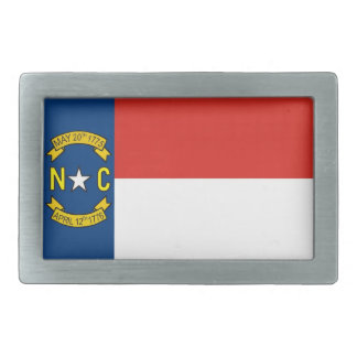 usa country state north carolina flag rectangular belt buckle