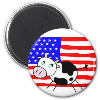 USA Cow Magnet