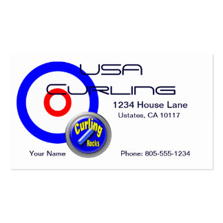 USA Curling Business Card Templates