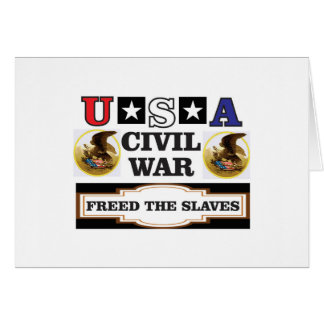 usa CW freed the slaves Card