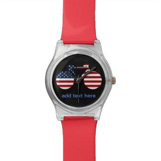 USA cycling personalized text Watch