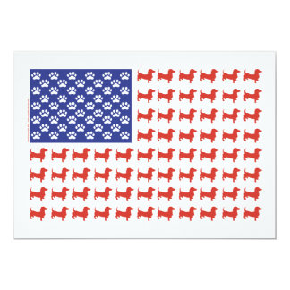 USA Dachshund Card