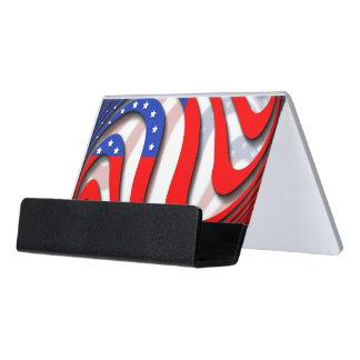 USA DESK BUSINESS CARD HOLDER