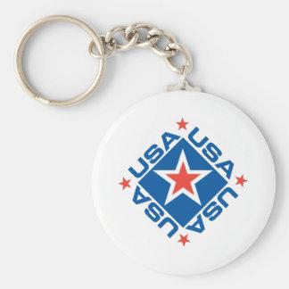 USA Diamon Keychains