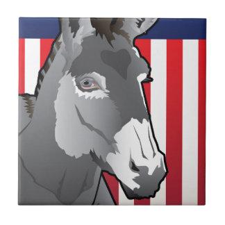 USA Donkey, Democrat Pride Ceramic Tile