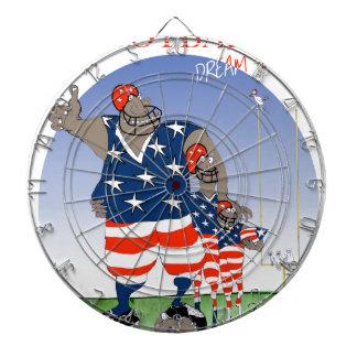 USA dream team, tony fernandes Dartboard