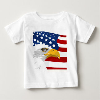 USA eagle and flag Baby T-Shirt