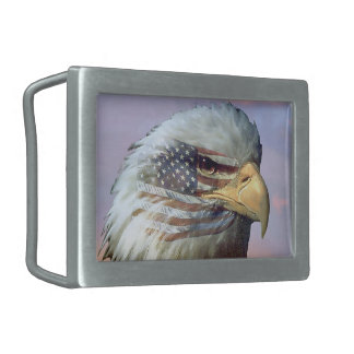 USA Eagle Bird Flag Veterans Gift Belt Buckle