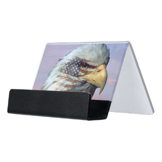 USA Eagle Flag Patriot Business Card Holder