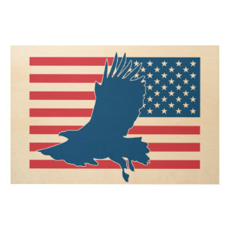 USA eagle Wood Wall Decor