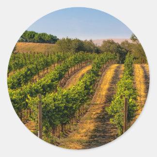 USA, Eastern Washington, Walla Walla Vineyards Classic Round Sticker