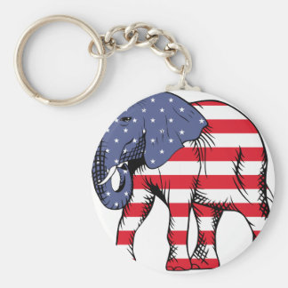 USA Election Elephant  2016 Basic Round Button Key Ring