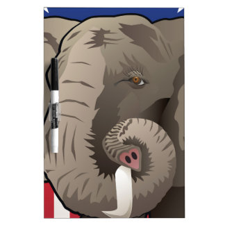 USA Elephant, Republican Pride Dry Erase Whiteboard
