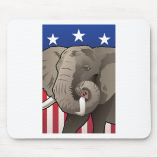 USA Elephant, Republican Pride Mouse Pad
