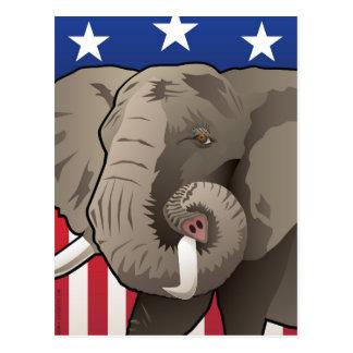 USA Elephant, Republican Pride Postcard