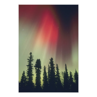 USA, Fairbanks area, Central Alaska, Aurora Photographic Print