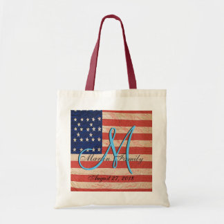USA Family Reunion American Monogram Tote Bag