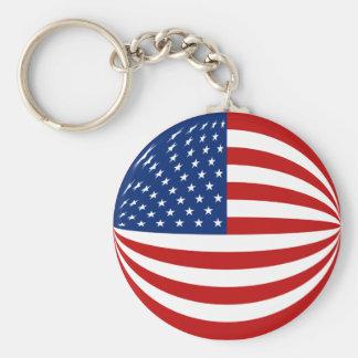 USA Fisheye Flag Keychain