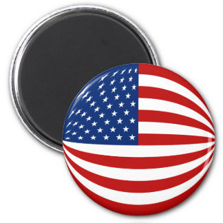 USA Fisheye Flag Magnet