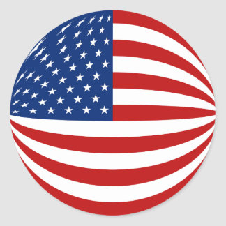 USA Fisheye Flag Sticker