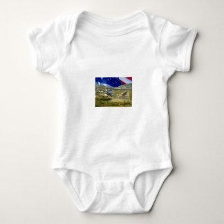 USA Flag Airliner Baby Bodysuit