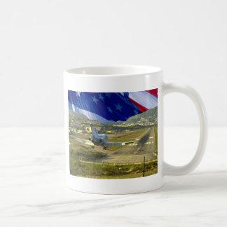 USA Flag Airliner Coffee Mug