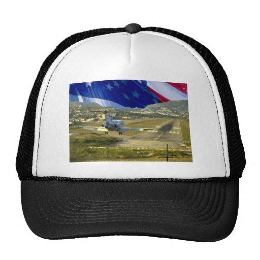 USA Flag Airliner Trucker Hats