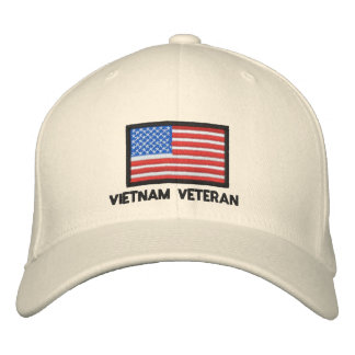 USA Flag - America - Vietnam Veteran Baseball Cap