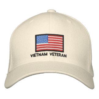 USA Flag - America - Vietnam Veteran Embroidered Hat