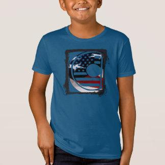 USA Flag American Initial Monogram C T-Shirt