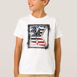 USA Flag American Initial Monogram K T-shirt