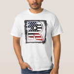 USA Flag American Initial Monogram R Tshirts