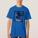USA Flag American Initial Monogram T Tshirt